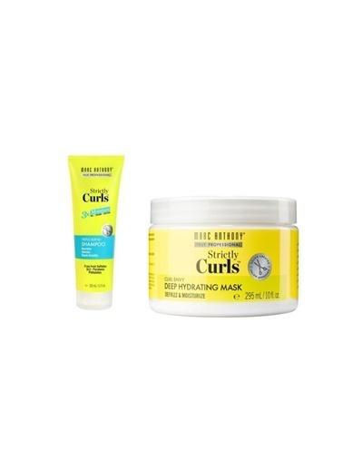 Marc Anthony Marc Anthony Strictly Curls 3X Nemlendirici Şampuan 325 Ml+Dalgalı Saç Nem Maskesi 295 Ml Renksiz